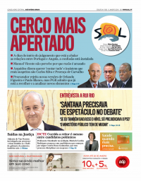 capa Jornal SOL de 9 janeiro 2018