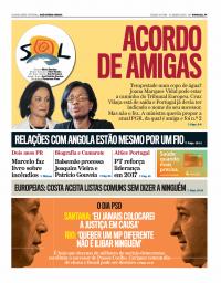 capa Jornal SOL de 14 janeiro 2018