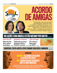 capa Jornal SOL de 15 janeiro 2018