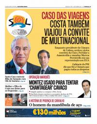 capa Jornal SOL de 15 setembro 2017