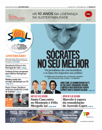 capa Jornal SOL de 18 setembro 2017