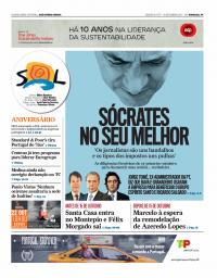 capa Jornal SOL de 19 setembro 2017