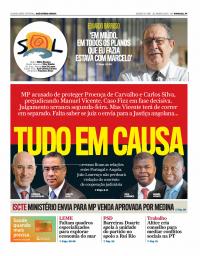 capa Jornal SOL de 20 janeiro 2018