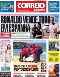 capa Correio da Manhã de 16 julho 2018