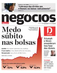 capa Jornal de Negócios de 7 fevereiro 2018