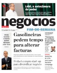 capa Jornal de Negócios de 9 fevereiro 2018