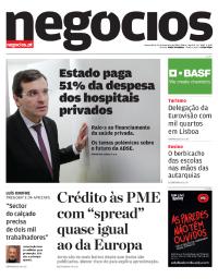 capa Jornal de Negócios de 14 fevereiro 2018