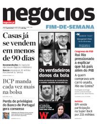 capa Jornal de Negócios de 16 fevereiro 2018