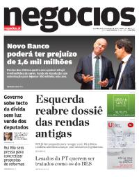 capa Jornal de Negócios de 20 fevereiro 2018