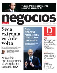 capa Jornal de Negócios de 21 fevereiro 2018