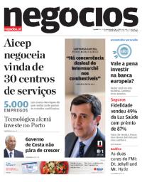 capa Jornal de Negócios de 26 fevereiro 2018