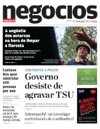 capa Jornal de Negócios de 27 fevereiro 2018