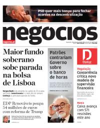 capa Jornal de Negócios de 28 fevereiro 2018