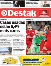 capa Jornal Destak de 4 julho 2018