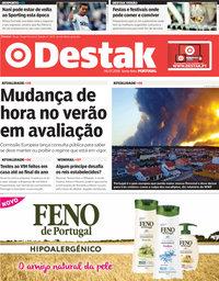 capa Jornal Destak de 6 julho 2018