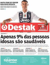 capa Jornal Destak de 17 julho 2018