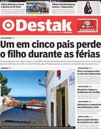 capa Jornal Destak de 18 julho 2018