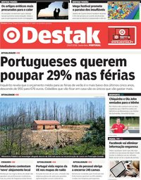 capa Jornal Destak de 20 julho 2018