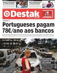 capa Jornal Destak de 25 julho 2018