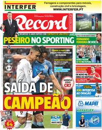 capa Jornal Record de 1 julho 2018