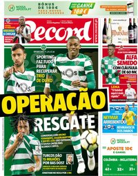 capa Jornal Record de 3 julho 2018