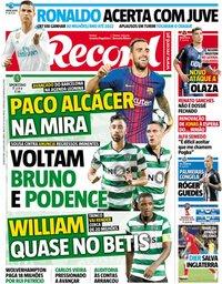 capa Jornal Record de 4 julho 2018