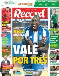 capa Jornal Record de 4 outubro 2018