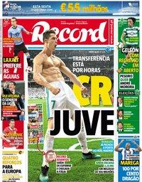 capa Jornal Record de 5 julho 2018