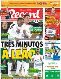 capa Jornal Record de 5 outubro 2018
