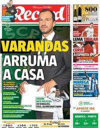 capa Jornal Record de 6 outubro 2018