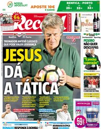 capa Jornal Record de 7 outubro 2018