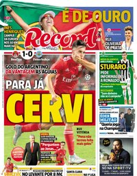 capa Jornal Record de 8 agosto 2018