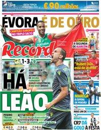 capa Jornal Record de 13 agosto 2018