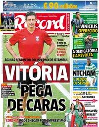 capa Jornal Record de 14 agosto 2018