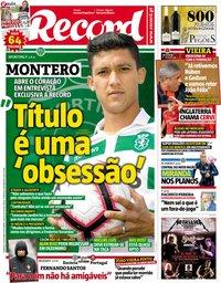 capa Jornal Record de 14 outubro 2018