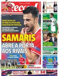 capa Jornal Record de 17 outubro 2018