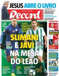 capa Jornal Record de 18 julho 2018