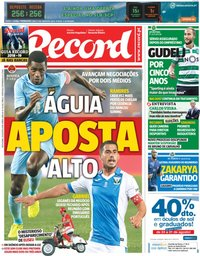 capa Jornal Record de 24 agosto 2018