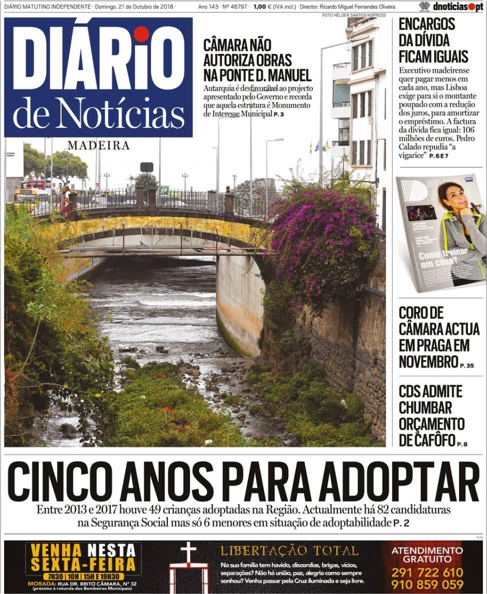 capa Diário de Notícias Madeira