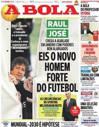 capa Jornal A Bola