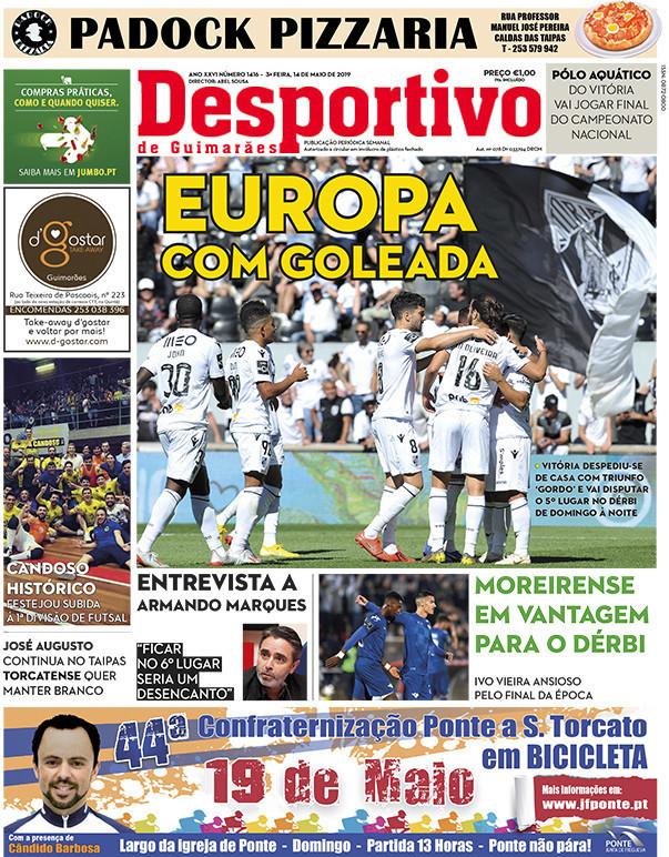 capa Jornal Desportivo de Guimarães