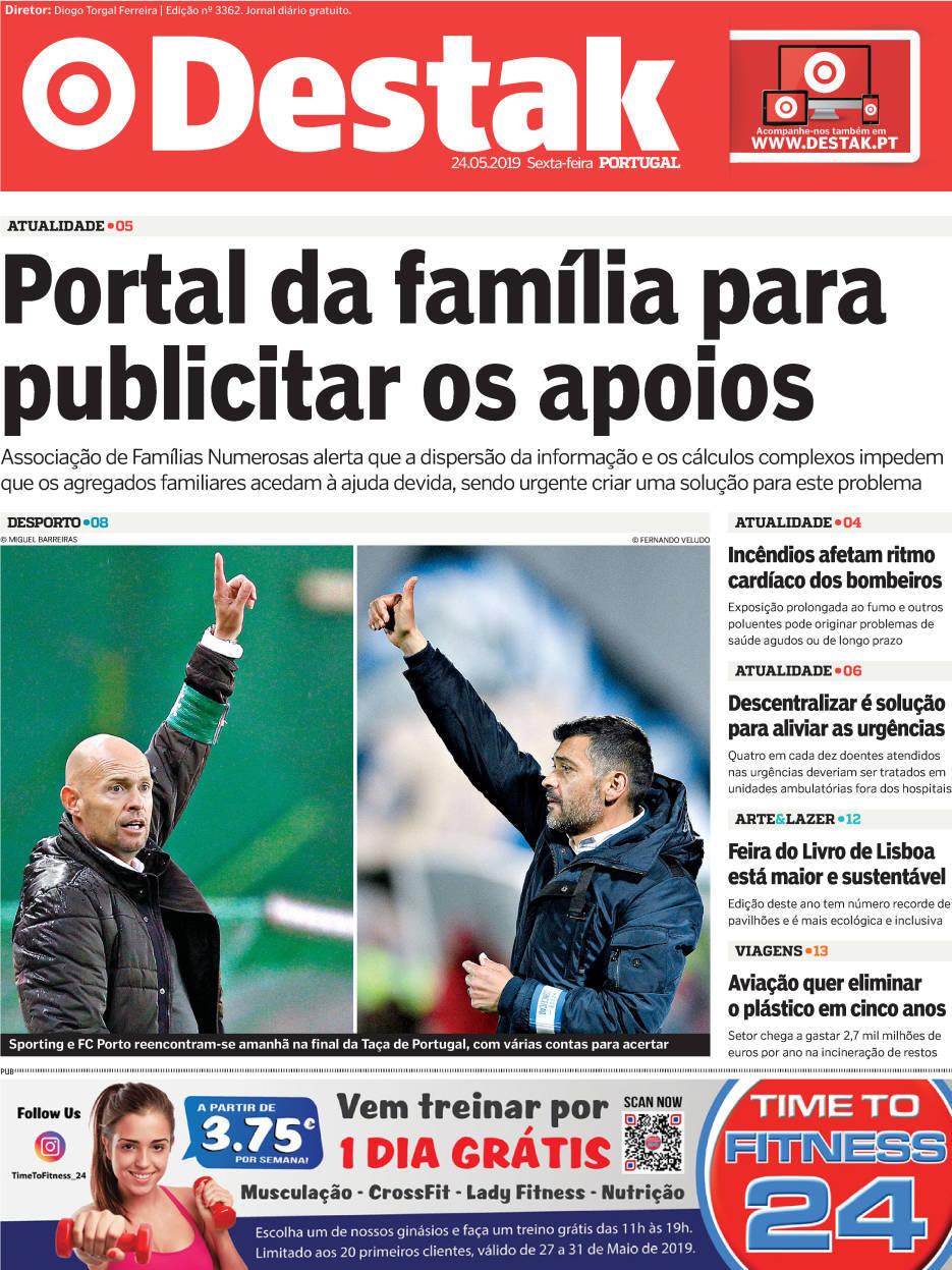 capa Jornal Destak