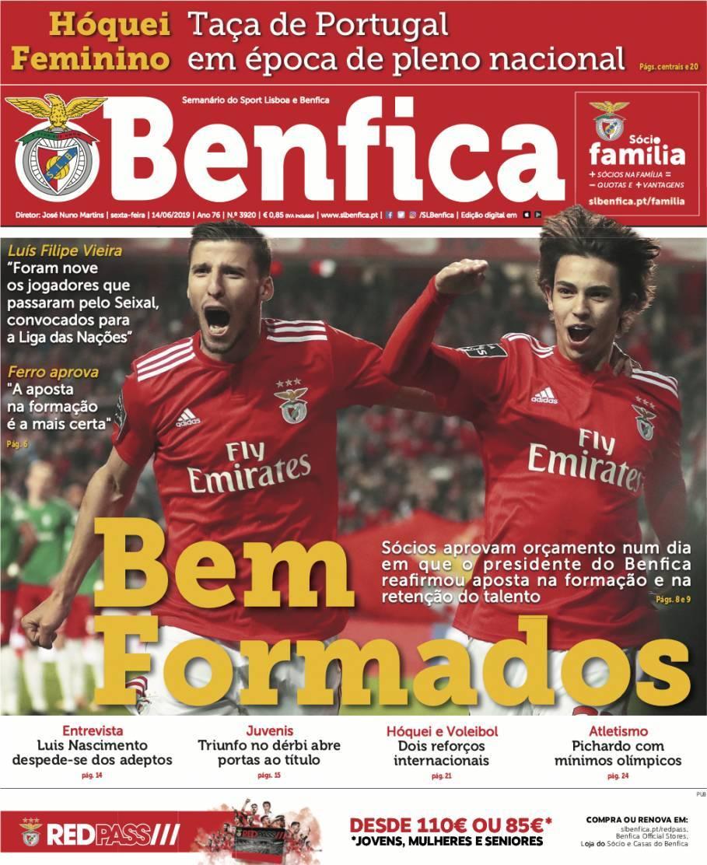 capa Jornal Benfica