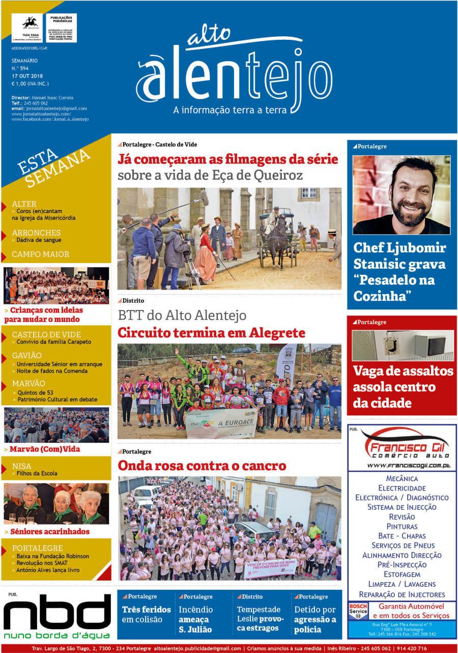 capa Jornal O Alto Alentejo