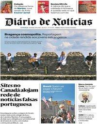 capa Diário de Notícias de 21 outubro 2018