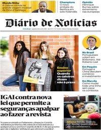 capa Diário de Notícias de 22 outubro 2018