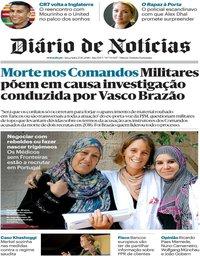 capa Diário de Notícias de 23 outubro 2018
