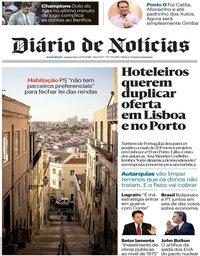 capa Diário de Notícias de 24 outubro 2018