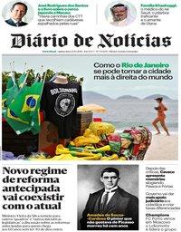 capa Diário de Notícias de 25 outubro 2018