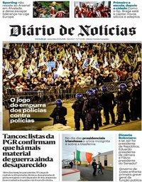 capa Diário de Notícias de 26 outubro 2018